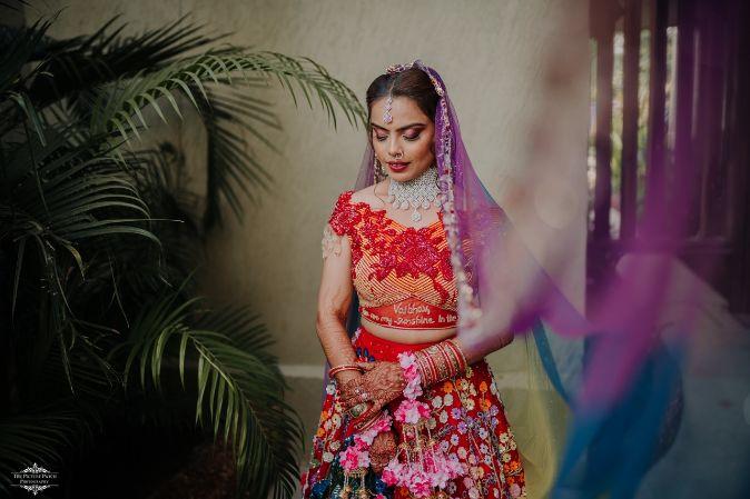 bridal blouse ideas | Stunning Colourful Wedding Lehenga