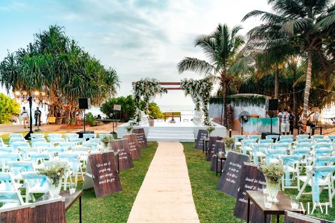 indian wedding mandap decor settings | Beach Wedding in Sri Lanka