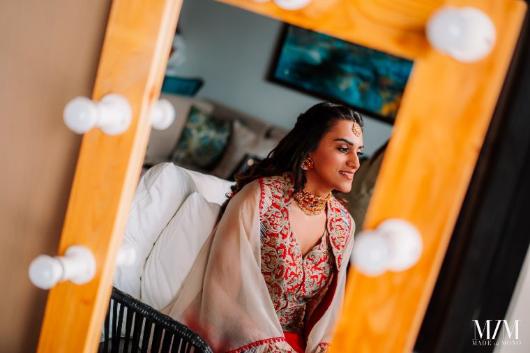 bride getting ready photo from mehendi day