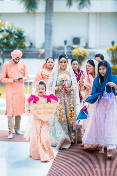 bridal entry ideas | kids at indian wedding | Pastel Wedding with a Stunning Reception Look