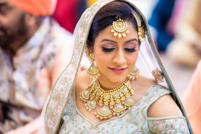 cold shoulder bride | indian bridal jewellry ideas | Pastel Wedding with a Stunning Reception Look