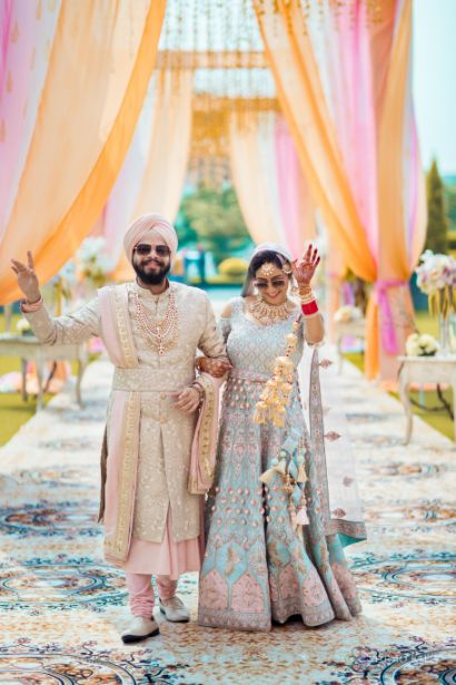 funny photos | sikh wedding | | Pastel Wedding with a Stunning Reception Look