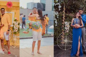 indian wedding haldi with apool party theme
