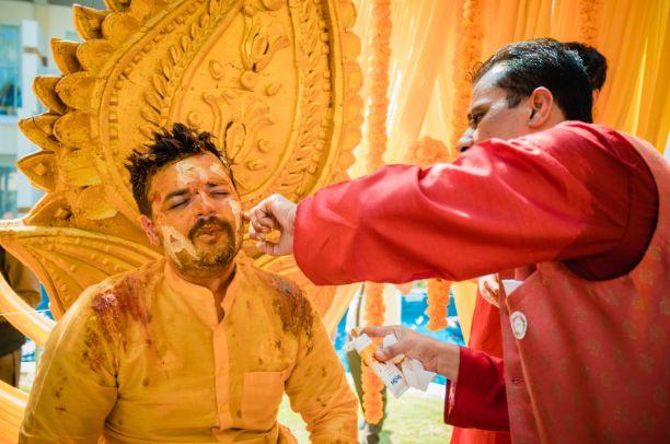 haldi ceremony of a groom