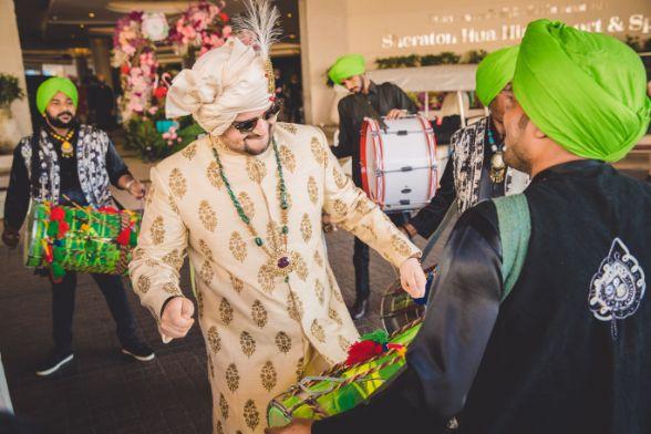 excited indian groom | Beach Wedding in Hua Hin