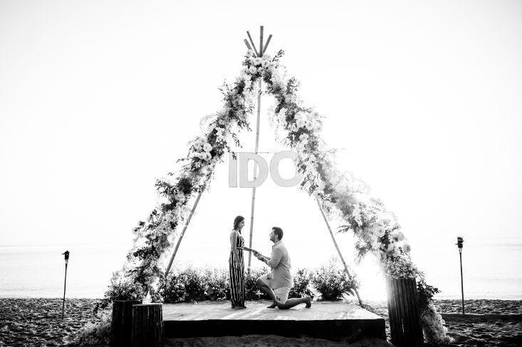 decor | propsal decor | indian couple proposal
