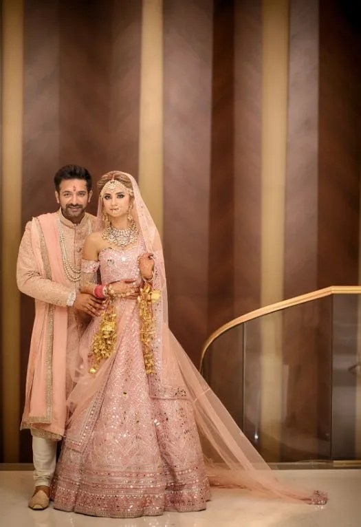 indian couple portarait | wedding phtoots | wedding night | indian weddings #wittyvows Pink lehenga Mirror work Pink lehenga Mirror work