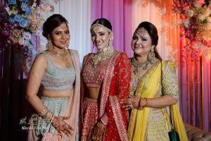 stunning bride in Anita Dongre Lehenga