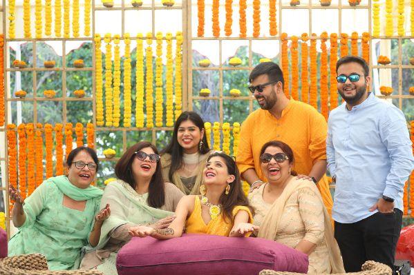 mehendi | haldi function | wedding in delhi | yellow outfit