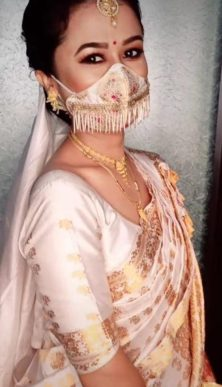 fringes masks Indian brides wearing masks | mask corona wedding