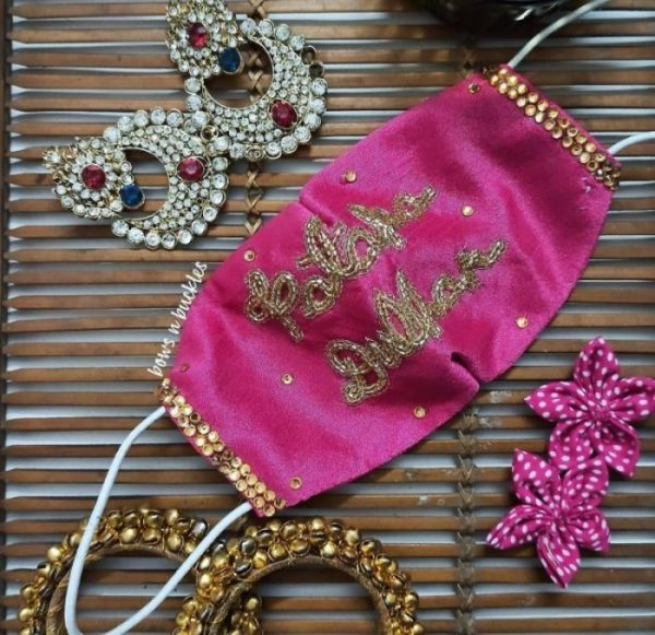 Designer masks for indian brides pf 2020 | corona masks to wear indian weddings | #wittyvows #masks #corona #designermasks