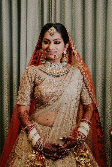 beautifully drapped ridal dupatta ideas | Wedding at Ramoji Film City