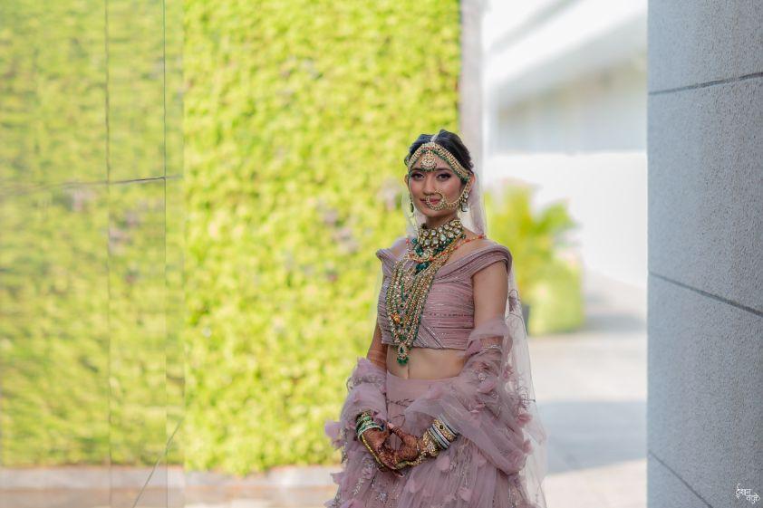 bridal portraits | indian wedding real indian wedding | pink lehenga | indian wedding bridal lehenga | designer | Designer wedding Lehenga Modern design wedding lehenga | modern design indian bridal lehenga #wittyvows #indianwedding #indianbride #realindianwedding #destinationwedding  |