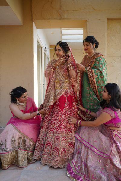 indian bridesmaids photoshoot ideas | Prettiest Mumbai Wedding