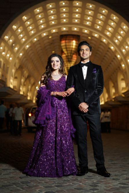 gorgeous indian couple | reception day outfit