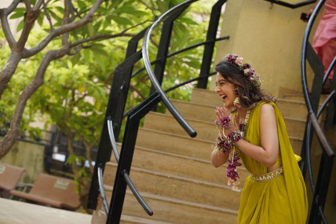 brides haldi day look |