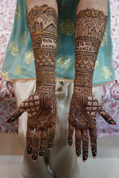 indian brides mehendi   mehendi day function