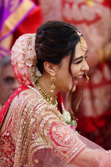 candid wedding photos   bridal bun idaes   Prettiest Mumbai Wedding