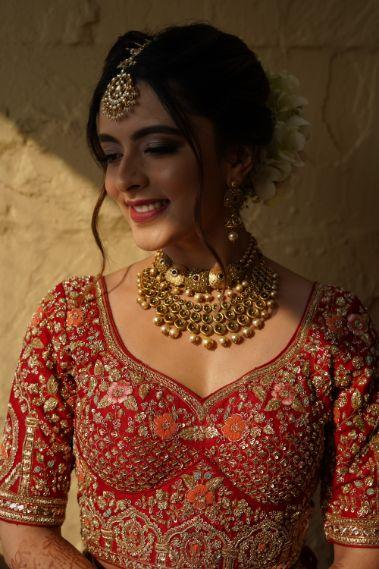 indian bridal bluse designs | indian bridal jewellery | Prettiest Mumbai Wedding