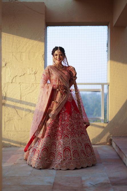 gorgeous red lehenga for the bride   indian wedding diaries   Prettiest Mumbai Wedding