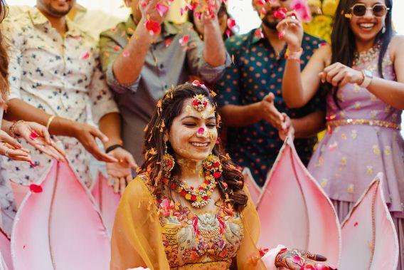 phoolon ki holi | haldi ceremony