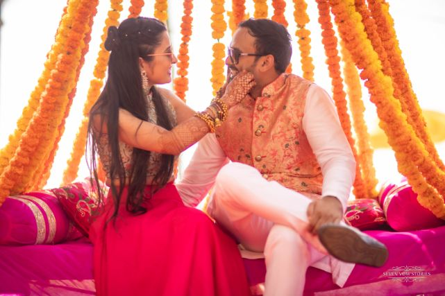 couple candid photography   Cutest Haldi Ceremony