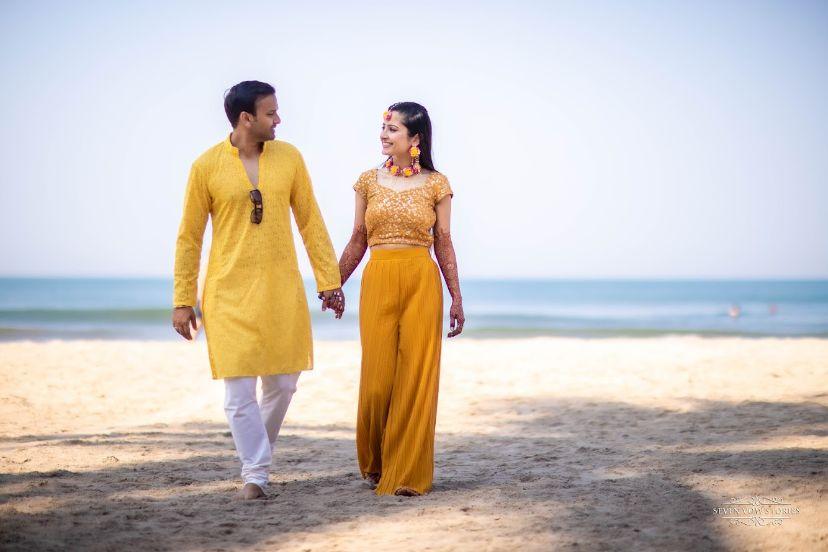 haldi ceremony by  the beach | Cutest Haldi Ceremony