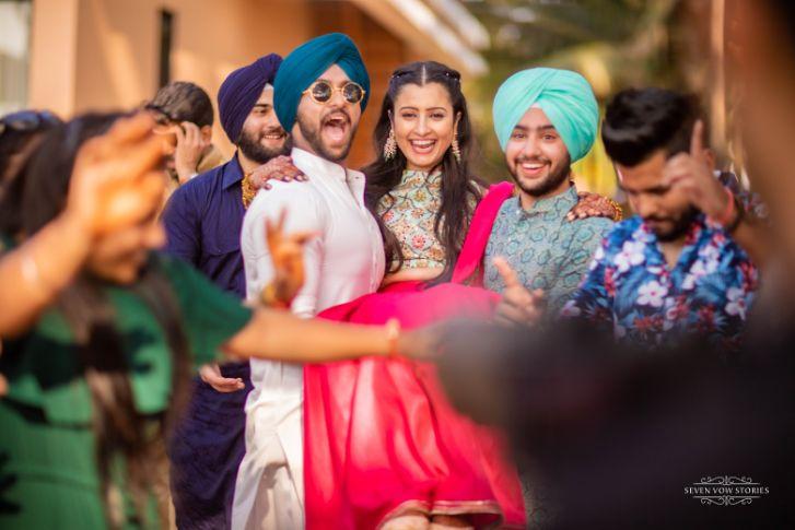 happy bride | mehendi day | Cutest Haldi Ceremony