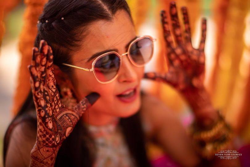 bridal mehendi ideas | Cutest Haldi Ceremony