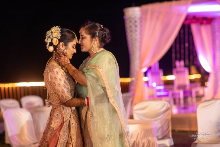 indian bridal photoshoot with her mother