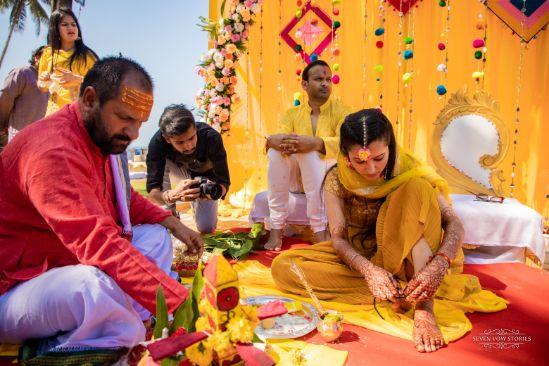 indian wedding | wedding details | haldi day | Cutest Haldi Ceremony