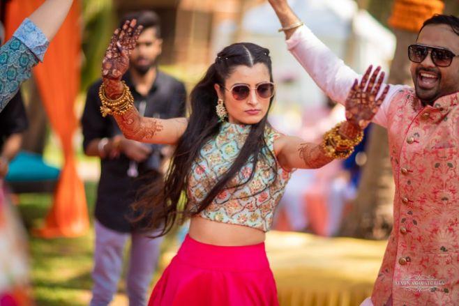 cool bride | mehendi function | Cutest Haldi Ceremony