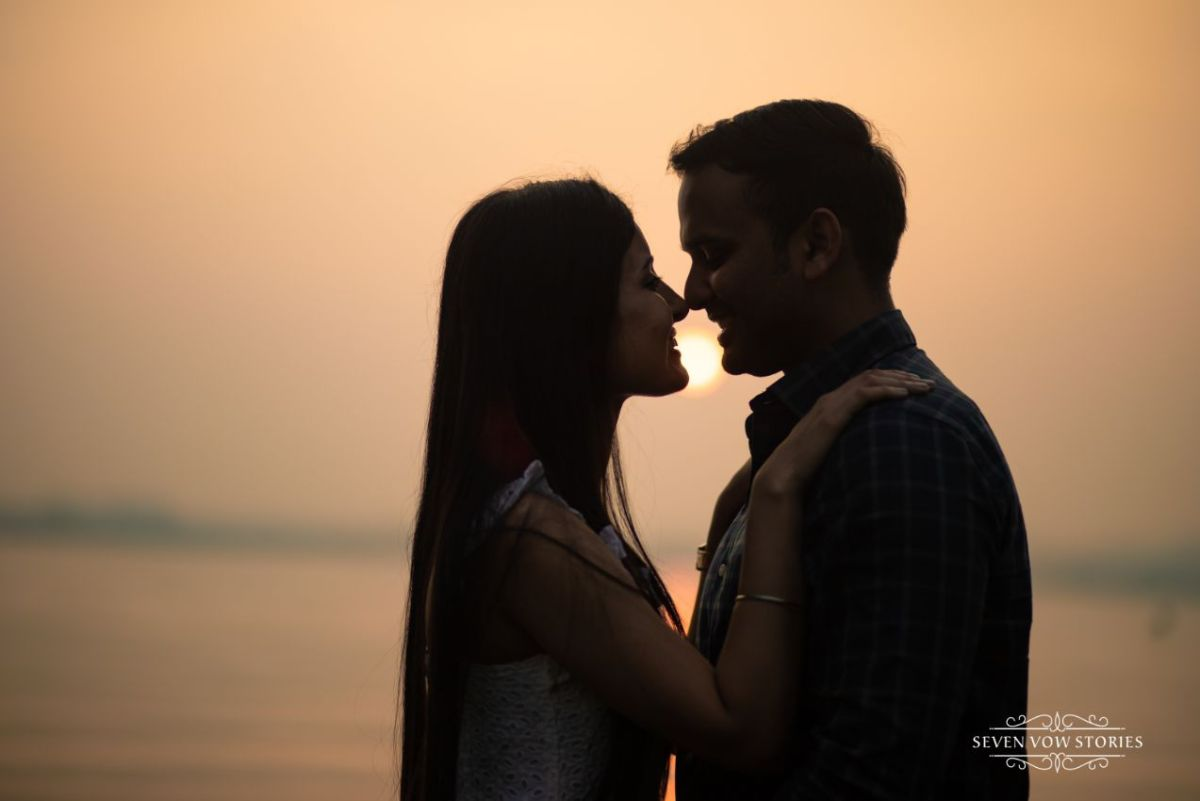 pre wedding shoot by the sunset