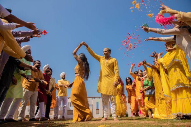 haldi day dance | indian wedding functions | Cutest Haldi Ceremony