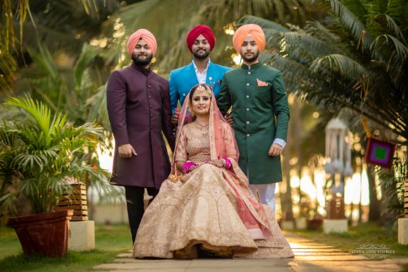 indian brides photos with her brothers