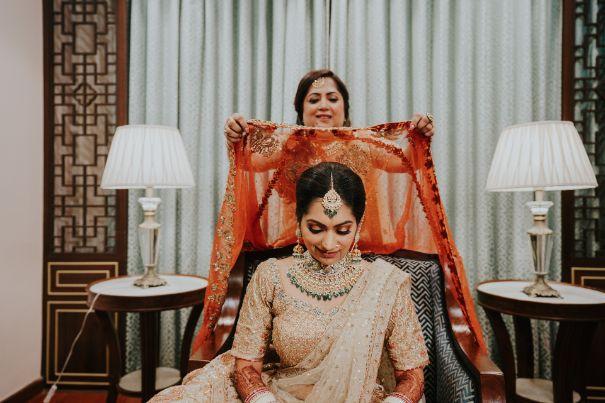 indian bride getting ready   Wedding at Ramoji Film City