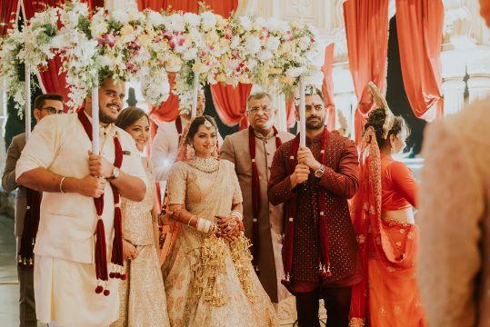 bridal entry under phoolon ki chadar   Wedding at Ramoji Film City