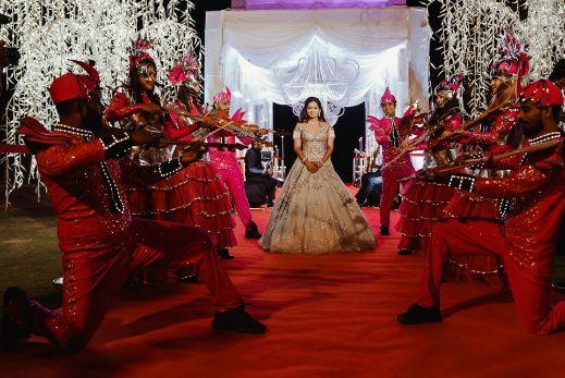 bridal entry | stunning decor