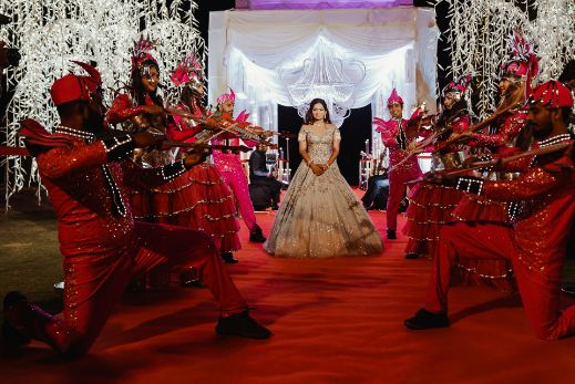 bridal entry   stunning decor