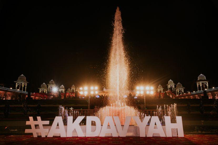 wedding hashtag decor | Wedding at Ramoji Film City
