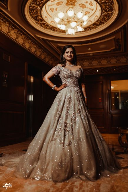 gown for the bride | indian wedding photography