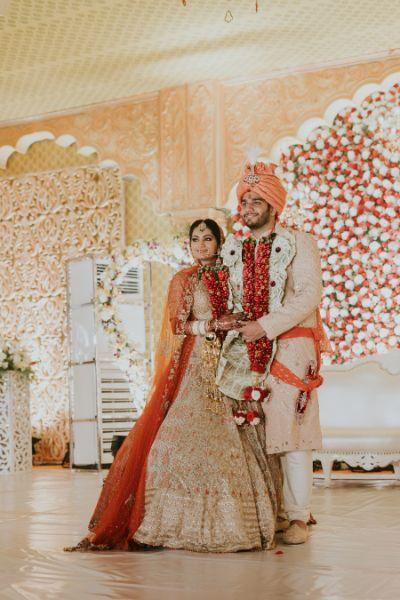 candid couple photo on wedding day | Wedding at Ramoji Film City