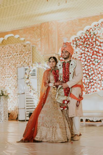 candid couple photo on wedding day   Wedding at Ramoji Film City
