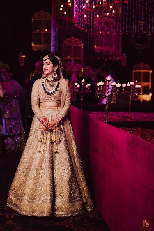 lehenga , wittyvows , real indian wedding , polki jewellery, bridal outfit goals