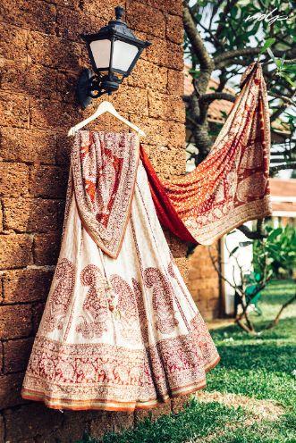 indian wedding , wittyvows , destination wedding , beach wedding , wedding in goa , Gujarati bride , white lehenga