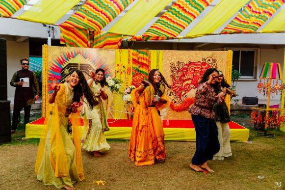 Rajasthani Wedding | real wedding | 2020 mehendi decor ideas . decor ideas , trends , tug of war,