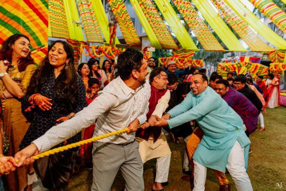 Rajasthani Wedding | real wedding | 2020 mehendi decor ideas . decor ideas , trends , tug of war, Wedding