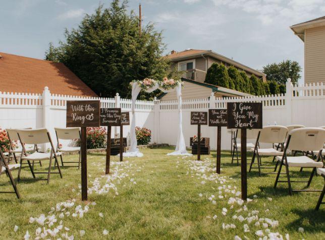 nri wedding , indian wedding , indian bride , DIY Wedding | Wedding in the backyard |decor details | Lockdown wedding