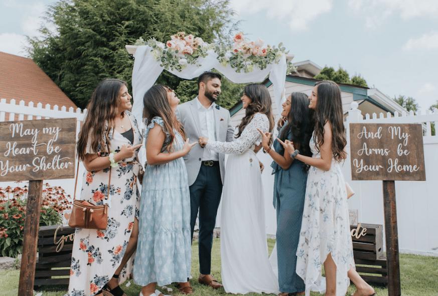 indian wedding , nri couple , bridesmaid , lockdown wedding