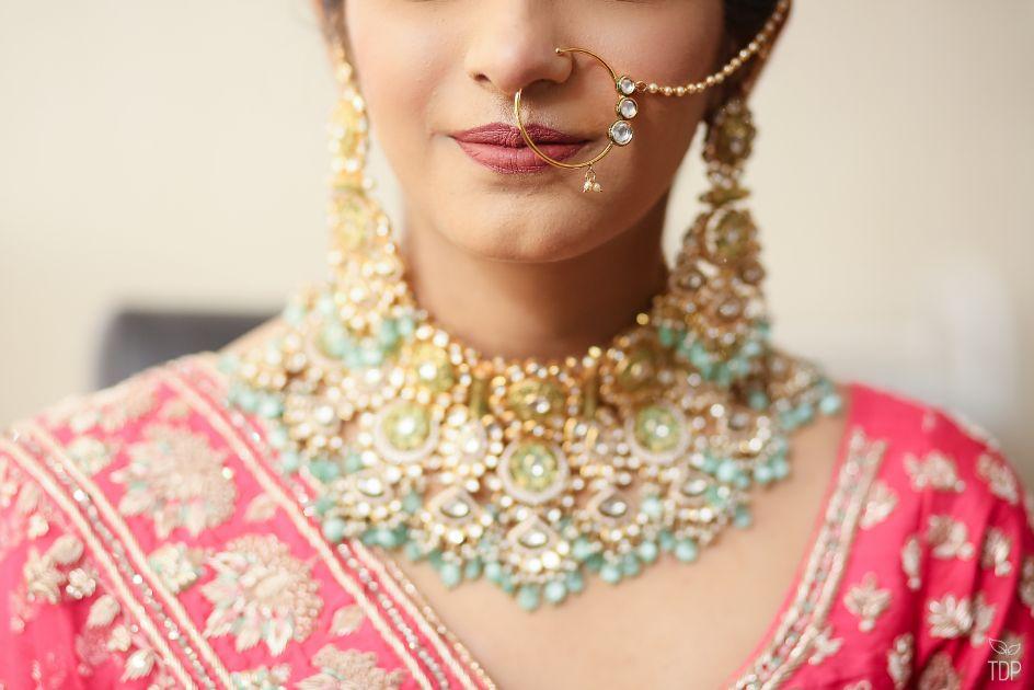 indian bridal portait | summer wedding | delhi wedding | bridal jewellery